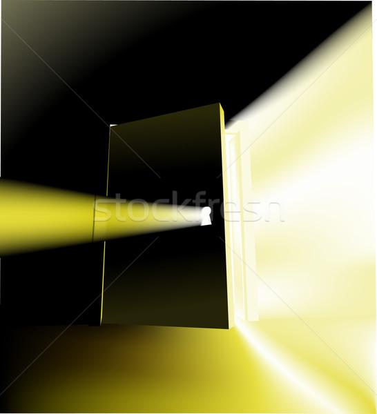 двери иллюстрация открытие что-то за Сток-фото © Krisdog