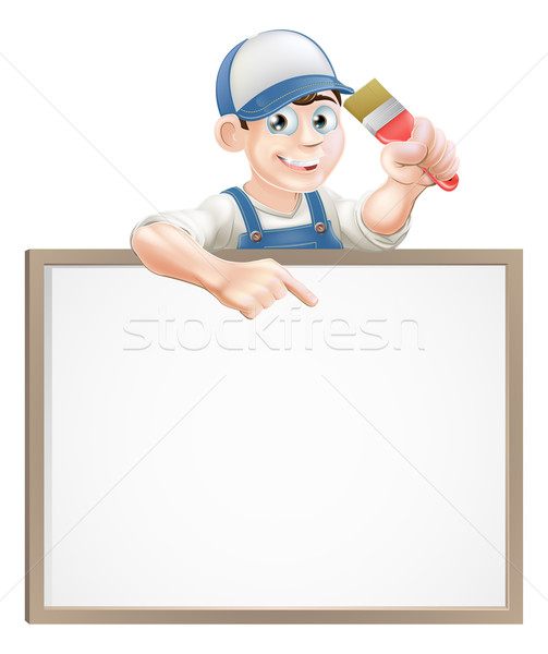 Painter decorator sign Stock photo © Krisdog