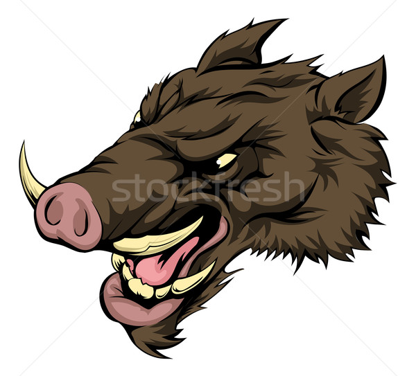 Boar mascot character Stock photo © Krisdog