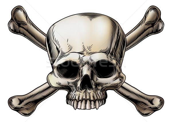 Skull and crossbones drawing Stock photo © Krisdog