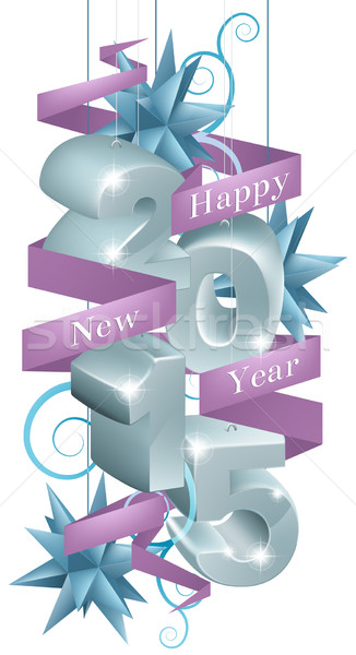 New year 2015 decorations Stock photo © Krisdog