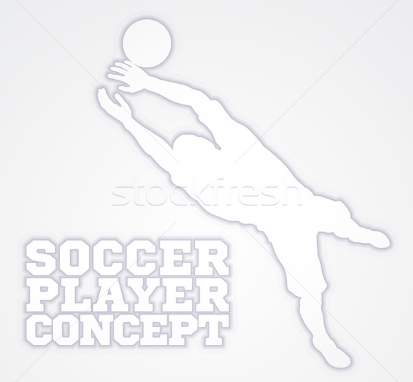 Goal Keeper Soccer Player Silhouette  Stock photo © Krisdog