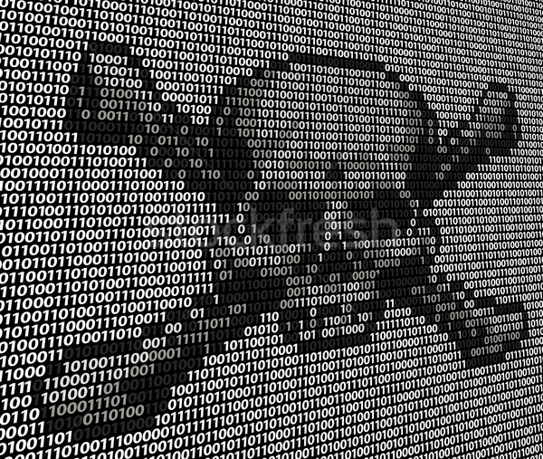 Code Skull and Crossbones Piracy Concept Stock photo © Krisdog