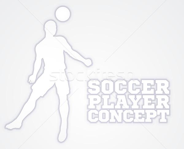 Header Soccer Football Player Silhouette Stock photo © Krisdog