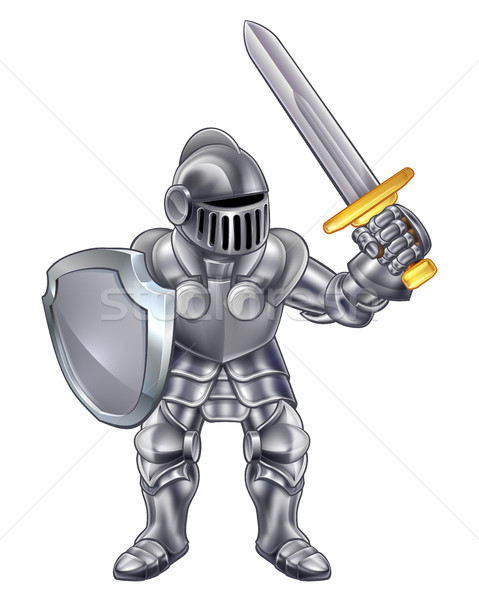 Knight Cartoon Mascot Stock photo © Krisdog