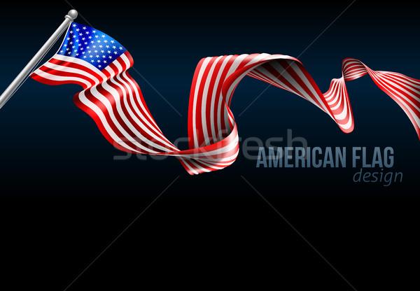 American Flag Design Stock photo © Krisdog