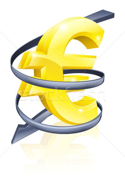 Düşen euro finanse ekonomi fiyat değiştirme Stok fotoğraf © Krisdog