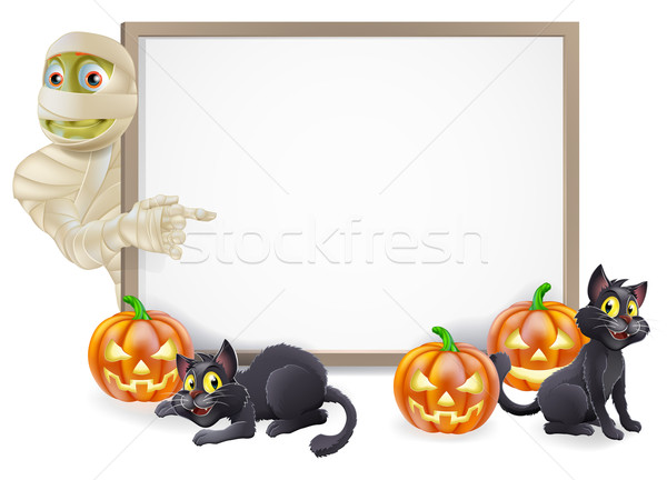 Halloween Mummy Sign Stock photo © Krisdog