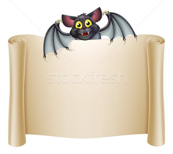 Halloween Bat Banner Stock photo © Krisdog