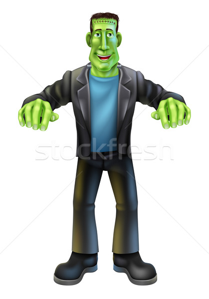 Halloween Cartoon frankenstein Stock photo © Krisdog