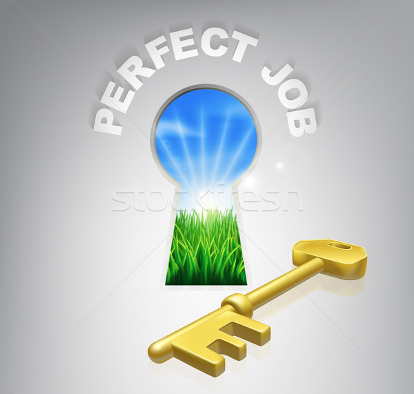 Key to perfect job Stock photo © Krisdog