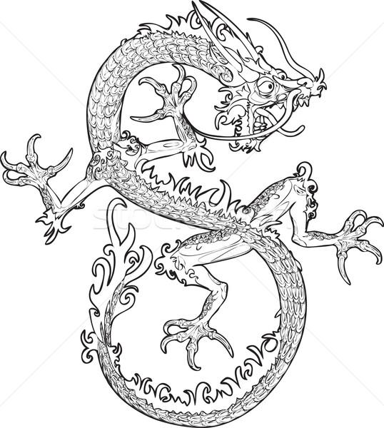 dragon illustration Stock photo © Krisdog