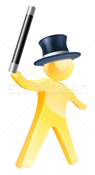 Mago oro persona ilustración mascota figura Foto stock © Krisdog
