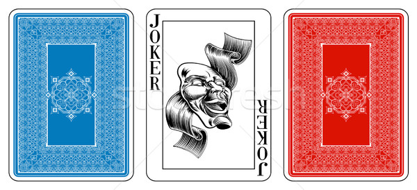 Poker size Joker playing card plus reverse Stock photo © Krisdog