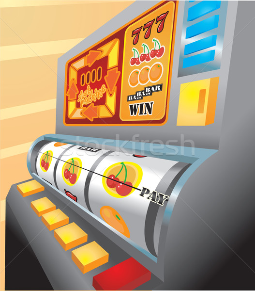 slot machine illustration Stock photo © Krisdog