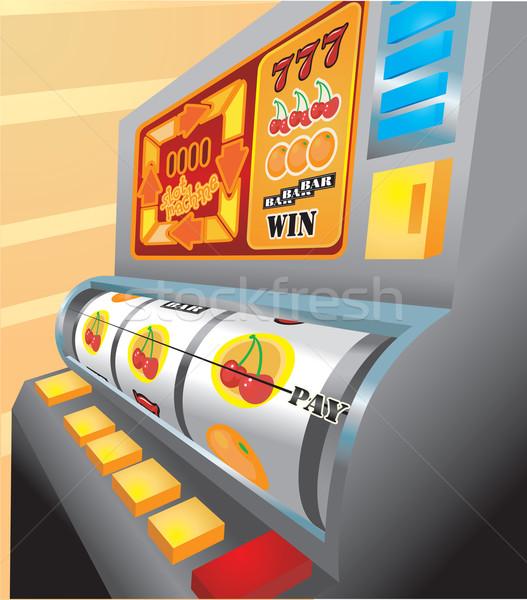 Játékautomata illusztráció illetmény ki anime pénz Stock fotó © Krisdog