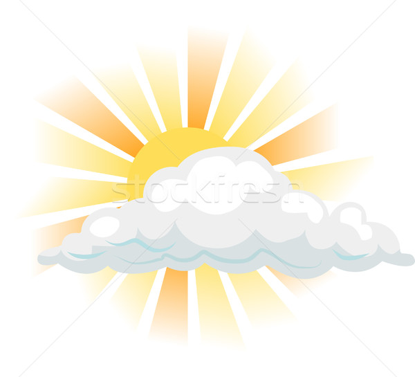 Güneş bulut örnek gökyüzü yaz gökkuşağı Stok fotoğraf © Krisdog