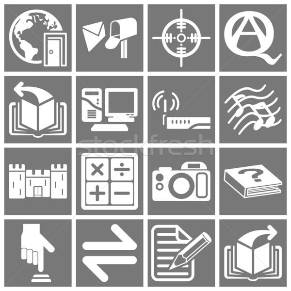 Internet establecer iconos de la web mundo trabajo Foto stock © Krisdog