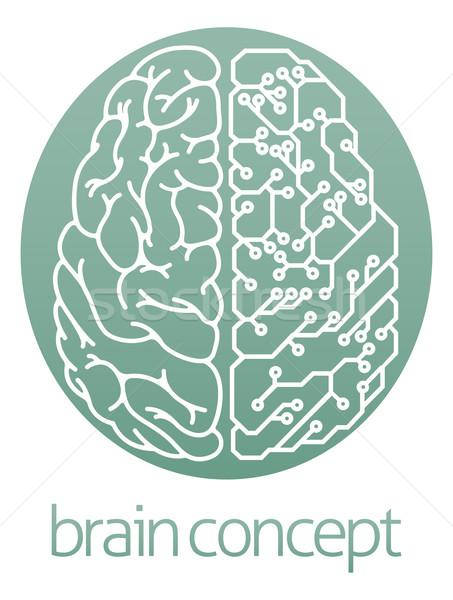 商业照片: 电动 · 电路板 · 大脑 · 抽象 · 插图