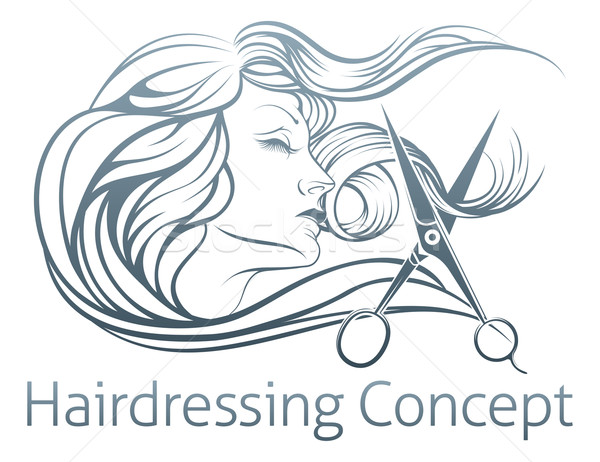 Woman Hairdresser Scissor Concept Stock photo © Krisdog