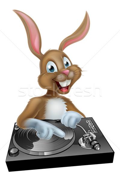 Conejo de Pascua Cartoon Pascua mano fondo baile Foto stock © Krisdog