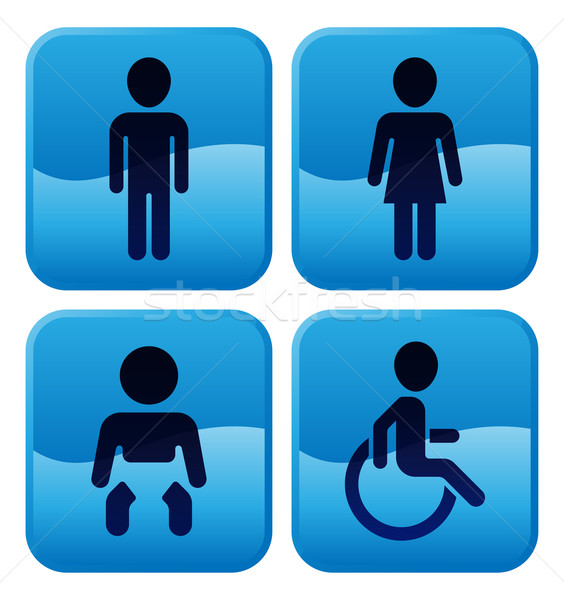 Toilet Restroom Signs Stock photo © Krisdog