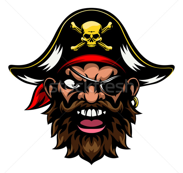 Cartoon Pirate Sports Mascot  Stock photo © Krisdog