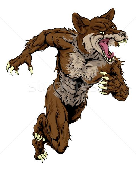 Coyote Sports Mascot Stock photo © Krisdog