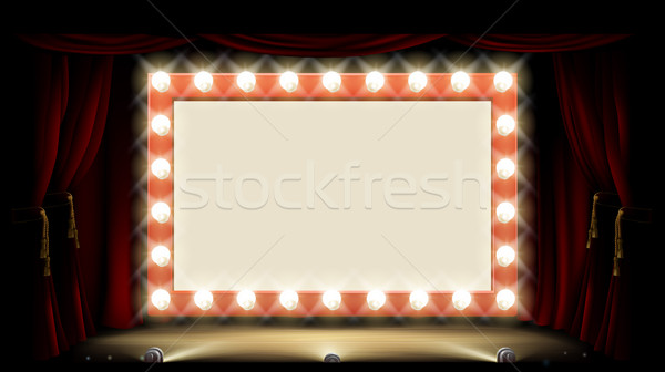 Theatre or Cinema with style light bulb sign Stock photo © Krisdog