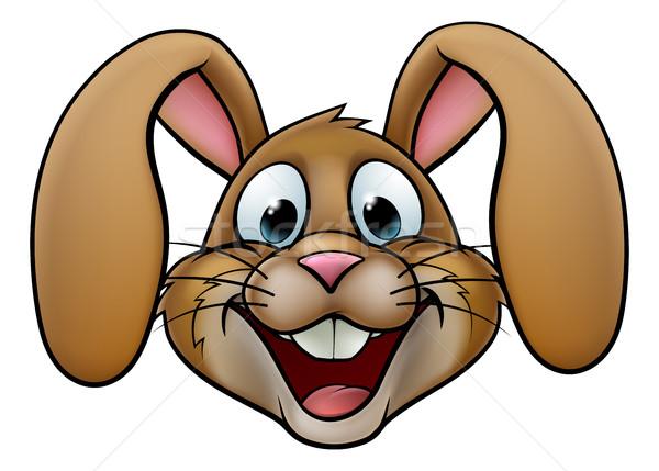 Conejo de Pascua conejo Cartoon cara fondo arte Foto stock © Krisdog