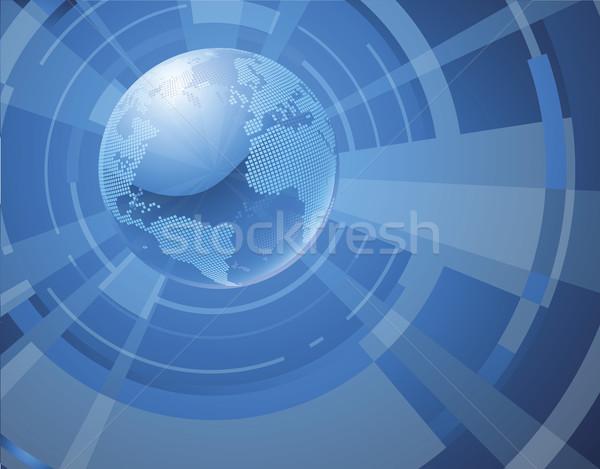 ダイナミック 3D 世界 世界中 ビジネス 海 ストックフォト © Krisdog