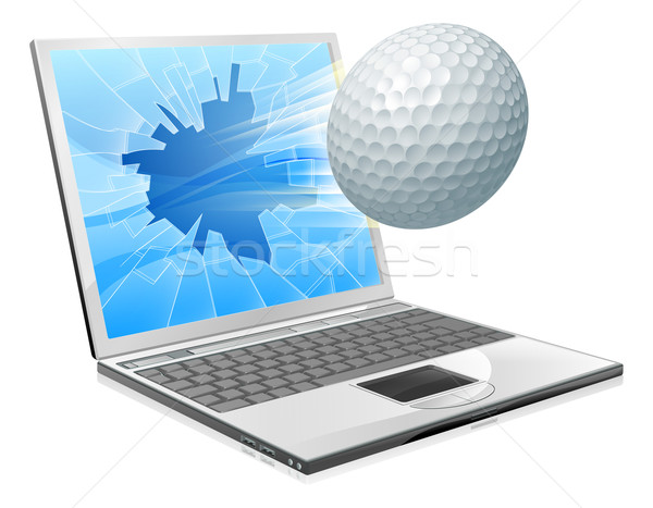 Golf ball laptop screen concept Stock photo © Krisdog