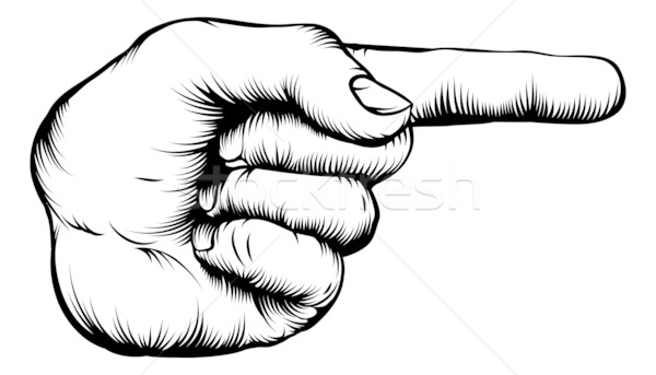 Hand pointing finger illustration Stock photo © Krisdog