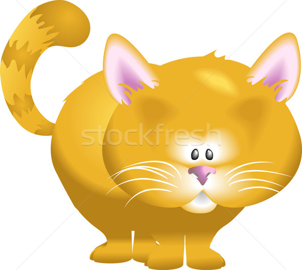 Cute кошки иллюстрация Китти искусства киска Сток-фото © Krisdog