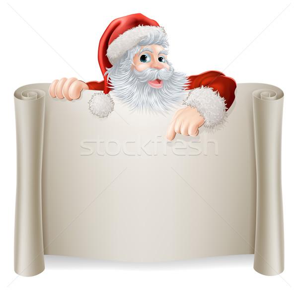 Christmas Vintage Santa Sign Stock photo © Krisdog