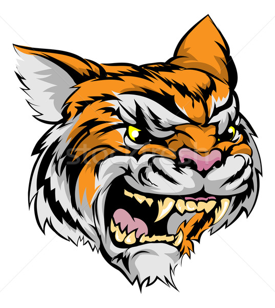 Stock photo: Tiger mascot character
