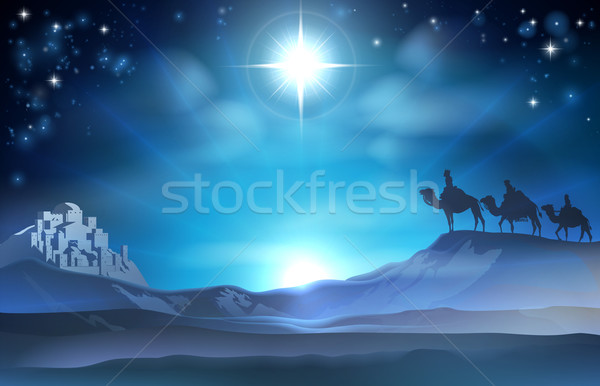 Christmas Nativity Star and Wise Men Stock photo © Krisdog