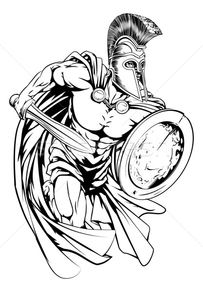 Stock photo: Spartan warrior