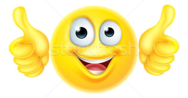 Thumbs up emoticon emoji Stock photo © Krisdog