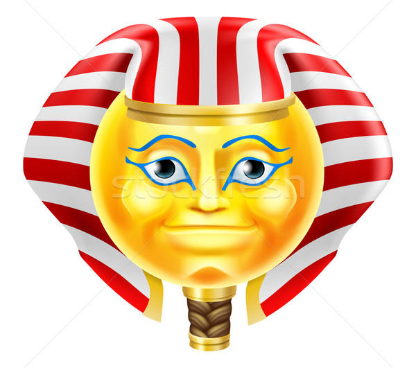 Pharaoh Emoji Emoticon Stock photo © Krisdog