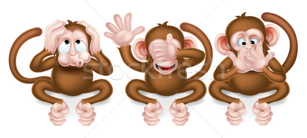 Three Wise Monkeys Stock photo © Krisdog