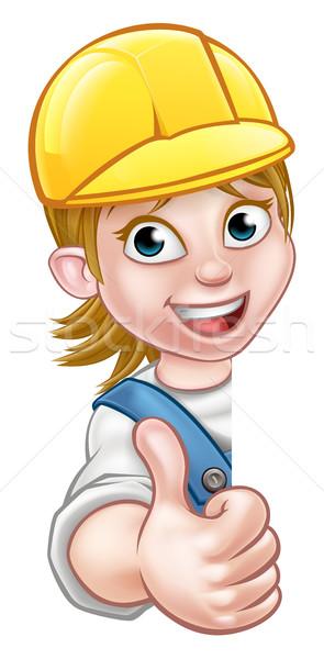 Woman Builder Carpenter Mechanic or Plumber Stock photo © Krisdog