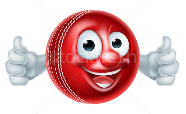 Cartoon Cricket Ball Character Stock photo © Krisdog