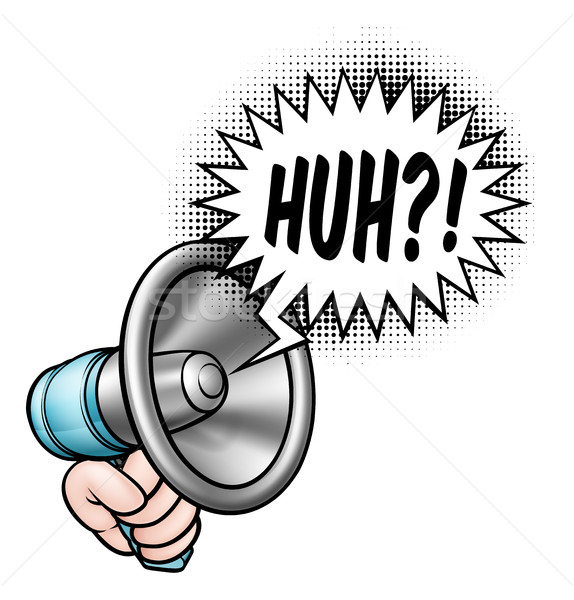 Cartoon Bullhorn Speech Bubble Stock photo © Krisdog