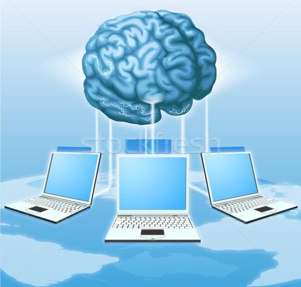Computer brain computing concept Stock photo © Krisdog