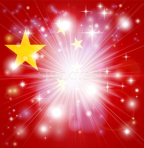 Chinese flag background Stock photo © Krisdog