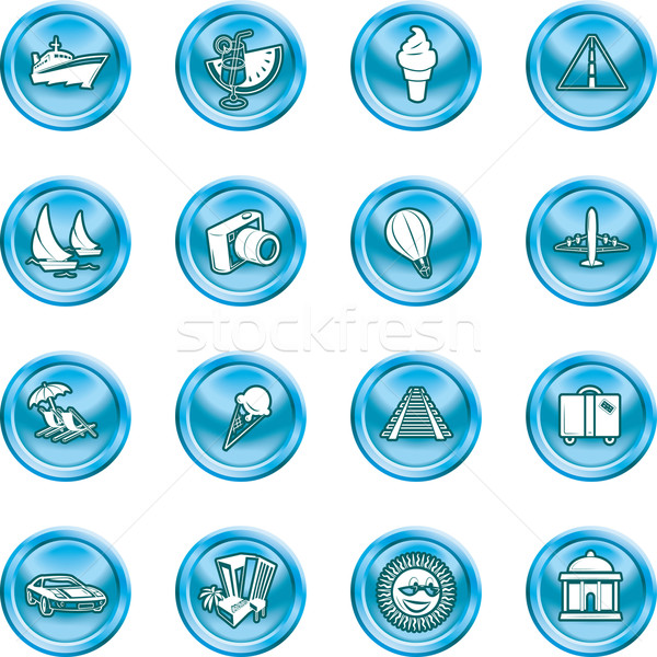vacations, travel and tourism icons Stock photo © Krisdog