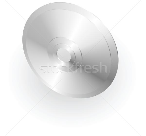 Ezüst fémes cd illusztráció CD szoftver Stock fotó © Krisdog