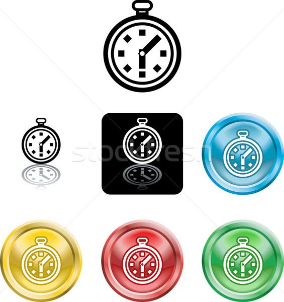 Stopwatch icon symbol Stock photo © Krisdog