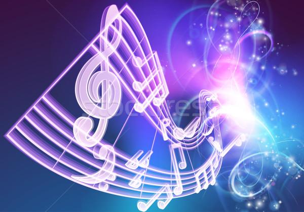 Music Notes Musical Background Stock photo © Krisdog